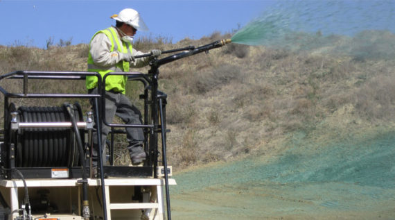 Hydroseeding oilfields