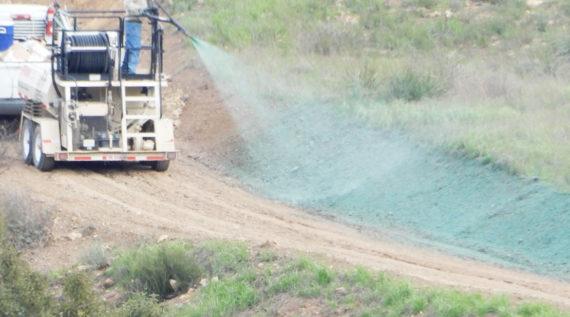 hydroseeding installation for erosion control