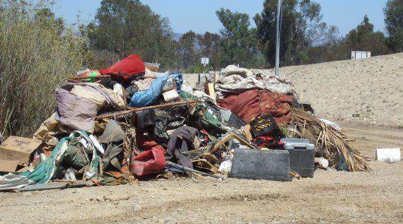 refuse collection at the Ventura River cleanup site